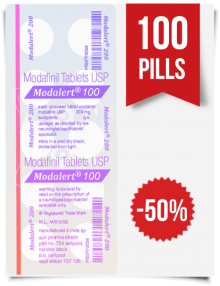 Modalert 100 mg x 100 Tablets