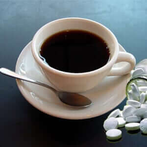 Waklert pills and coffee