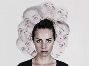 Human with schizophrenia