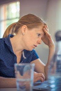 Woman has concentration problems