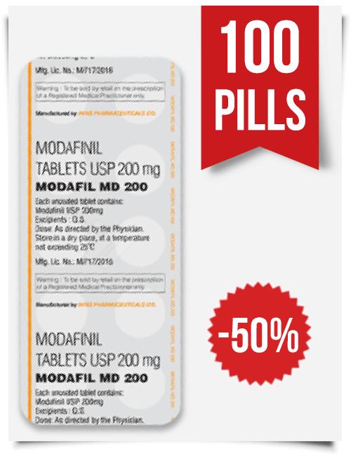 Buy Sublingual Modafil MD 200 mg 100 Pills