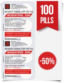 Modavinil 200 mg x 100 Pills